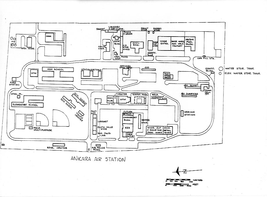 Drawing of Ankara Air Station 1966